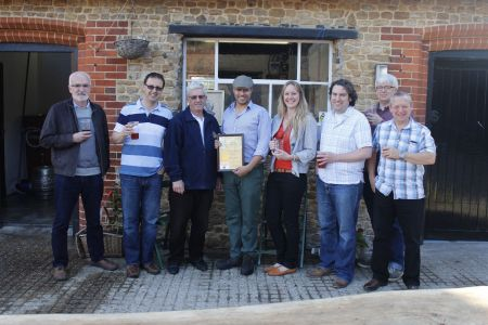 Presentation for Beer of the Festival to Frensham Rambler
